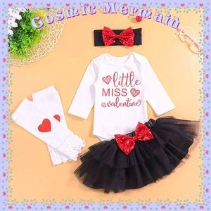 Other - 4PC Set🆕⭐️My First Valentines Day Tutu Outfit⭐️